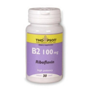 Vitamin B-2 100 MG 30 Caps by Thompson Nutritional Products