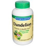 Natures Answer 0123711 Dandelion Root - 90 Vegetarian Capsules