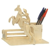 Horse-Riding Pen-Holder - Woodcraft Construction Kit