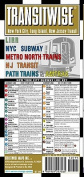 Streetwise Transitwise New York New Jersey Transit Map - LIRR, NYC Subway, Metro North trains, amtrak