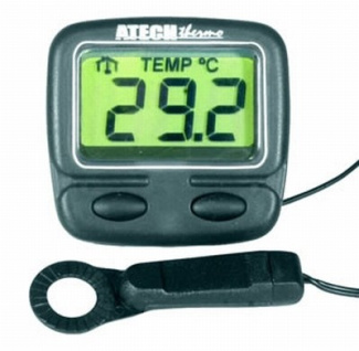 Mini Indoor/Outdoor Thermometer with Clock