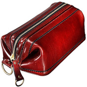 Old Leather Zipper Utility Kit