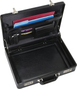 Leather Laptop Attache (Black)