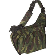 Camouflage Diaper Bag with Orange Zippers