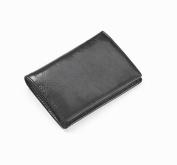 Glazed Leather Flap Over Card Holder