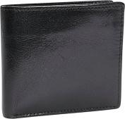 Double Fold Leather Wallet w/Pocket