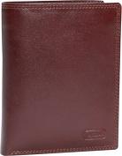 Double Fold Leather Wallet w/Detachable ID Window