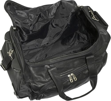 koskin leather rolling carry on duffel bag by u s On koskin leather