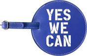 Yes We Can Luggage Tag (Blue)