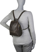 Distressed Leather U-Zip Womens Backpack