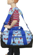 Olive Kids Trains Planes & Trucks Duffel Bag