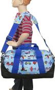 Olive Kids Trains Planes & Trucks Duffel Bag