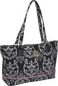 Damask Computer Tote