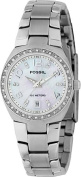 Fossil Ladies 3-Hand Stainless Steel MOP Dial Glitz Watch