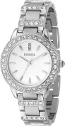 Fossil Ladies 3-Hand Stainless Steel Glitz Watch