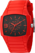 Diesel Men's Bright Red Young Blood Analog Black Dial Watch