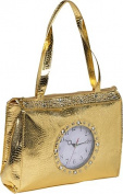 Metallic Tick Tock Tote Bag