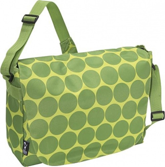 Big Dots Green Laptop Messenger Bag