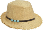 Raffia Fedora With Beads