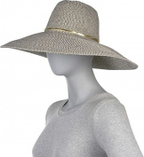 Metallic Gold 6 Inch Brim Sun Hat
