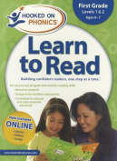 Hooked on Phonics Learn to Read, First Grade, Levels 1 & 2 [With Quick Start Guide and Sticker(s) and Workbook and DVD and Paperback Book]