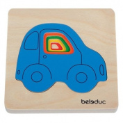 wooden layer puzzle - Car