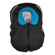 Tivoli Couture Infant Car Seat Jacket and Stroller Cover - Turquoise/Charcoal