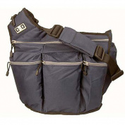 Nappy Dude Messenger Nappy Bag for Dads, Navy with Grey Zippers