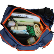 Nappy Dude Messenger Nappy Bag for Dads, Navy with Orange Zippers