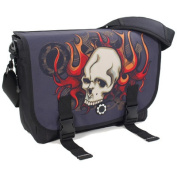 Messenger Bag Skulls & Flames
