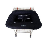 Balboa Baby Shopping Cart Cover - Black with Geo Trim
