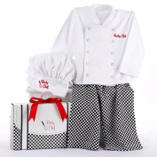 Baby Aspen 'Big Dreamzzz' Baby Chef Three Piece Layette in Culinary Themed Gift Box - White (0- .