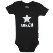 Silly Souls BH-7a-0 Rock Star- 0-3 Month Bodysuit- Black