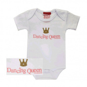 Silly Souls Dancing Queen Bodysuit - White