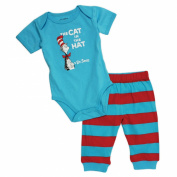 Dr. Seuss Short Sleeve Bodysuit and Pant Set - Cat in the Hat