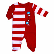 Dr. Seuss Striped Footed Sleeper - Thing 1 Thing 2