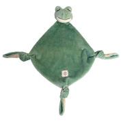 Miyim Simply Organic Lovie Blankie, Frog, 0-3 Months
