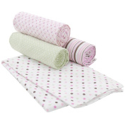 Carter's 4 Pack Receiving Blanket - Floral Dot