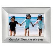 Lawrence Frames 505164 Lawrence Frames Brushed Metal 4x6 Grandchildren Picture Frame - Sentiments Collection