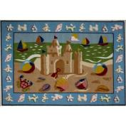 LA Rug OLK-050 1929 Olive Kids Collection - Sand Castle Rug - 48.3cm x 73.7cm