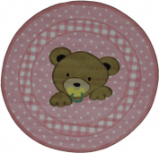 Fun Rugs Supreme TSC-238 Teddy Centre Pink Area Rug - Multicolor