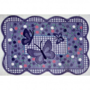 39 x 58 inch Purple Butterfly Fun Rug