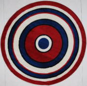 LA Rug FTS-150 51RD Fun Time Shape Concentric 2 High Pile Rug - 129.5cm Round