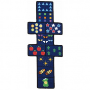 Fun Rugs Fun Time Shape FTS-168 Hopscotch with Counters Area Rug - Multicolor
