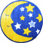 Fun Rugs Fun Time Shape FTS-123 Moon and Stars Area Rug - Multicolor