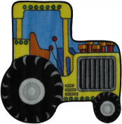LA Rug FTS-134 3131 Fun Time Shape Tractor High Pile Rug - 78.7cm x 78.7cm