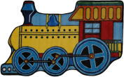 LA Rug FTS-133 3147 Fun Time Shape Train High Pile Rug - 78.7cm x 119.4cm