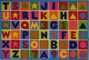 LA Rug FT-2011-P 1929 Fun Time Collection - Numbers & Letters Rug - 48.3cm x 73.7cm