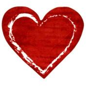 88.9cm x 99.1cm  Red Heart Fun Rug