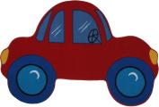 LA Rug FTS-027 3958 Fun Time Shape Red Car Medium Pile Rug - 99.1cm x 147.3cm